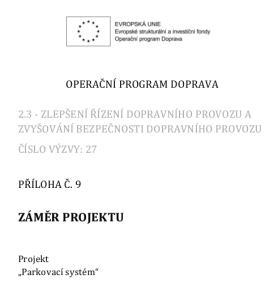 Zаmer projektu_Parkovaci system